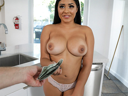 Horny Maid Fucks For Bucks!